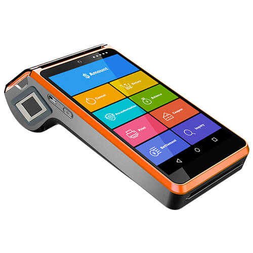 V7 Retail Portable Cashier Android POS Terminal With Biometric Fingerprint