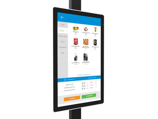 KW-1702 ODM Touch Screen Airport Super Market Payment Self-service Kiosk