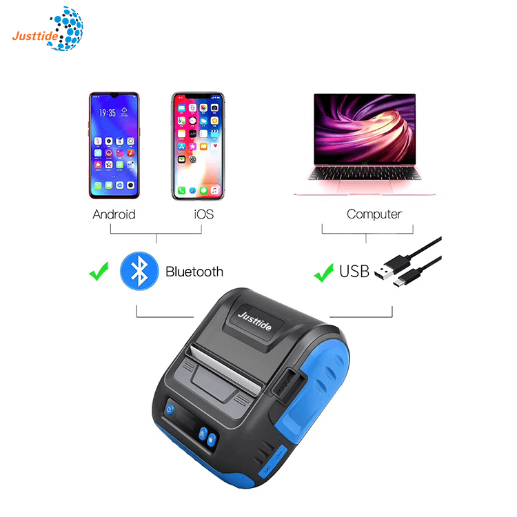BL1L 80mm Thermal Label Bluetooth Printer